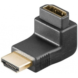 Verloopsteker HDMI female-HDMI male 90°